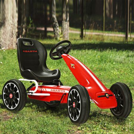 Costway Kinder Pedal Go Kart Gokart mit verstellbarem Sitz Tretauto Pedal Gokart Tretfahrzeug Kinderfahrzeug für Kinder Rot