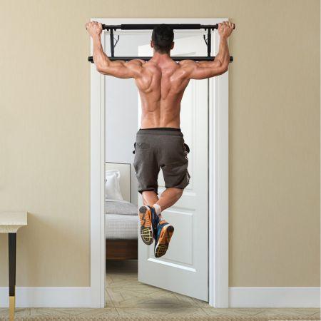 Costway Klimmzugstange Türreck Fitness Hometrainer Pull-Up-Bar Schwarz 100,5 x 26,5 x 35cm
