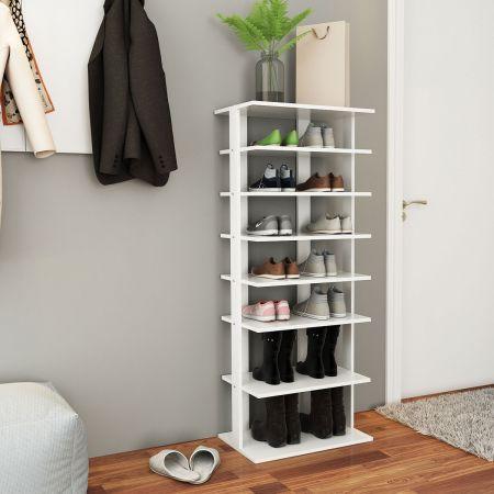 Schuhregal Schuhschrank Aufbewahrungsständer Schuhablage Dekoregal 8 Ebenen