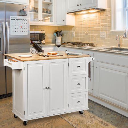 Costway Küchenwagen verstellbar Servierwagen Rollwagen Küchentrolley Kücheninsel
