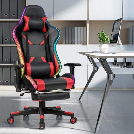 Costway Gamingstuhl Bürostuhl Racing Chair Drehstuhl Rot