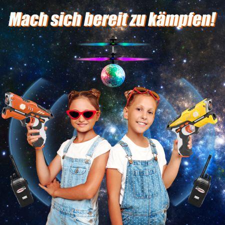 Costway 5-teiliges Laser-Tag-Set Infrarot-Spielzeugpistole leuchtende Laserpistole mit Multiplayer-Modus