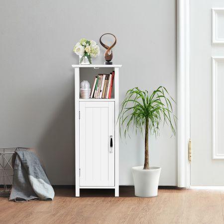 COSTWAY Badschrank Multifunktionsschrank für Schlafzimmer Küche Bad Badezimmerschrank weiß aus Holz