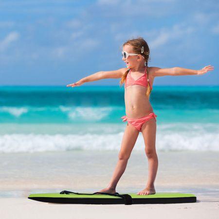 Bodyboard leichtgewichtig Schwimmbrett mit EPS-Kern & XPE Oberfläche für den Strand für Kinder & Erwachsene 94cm/106cm Grün