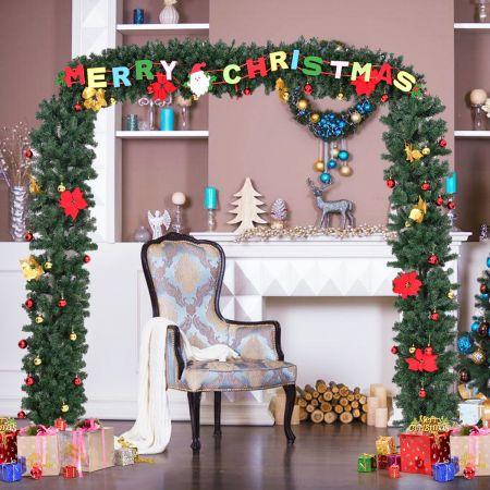 Weihnachtsgirlande Türgirlande Tannengirlande Weihnachtsdeko mit Gestell 274x243cm