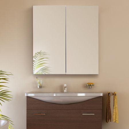 60 x 22 x 64 cm Badezimmerschrank Wandhängeschrank Spiegelschrank