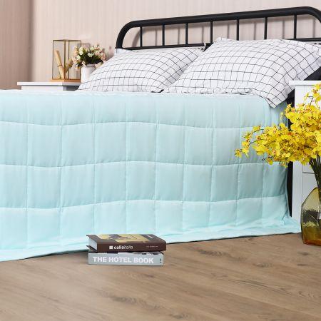 Costway Gewichtsdecke Kühl Schwere Decke Beschwerte Decke Grün