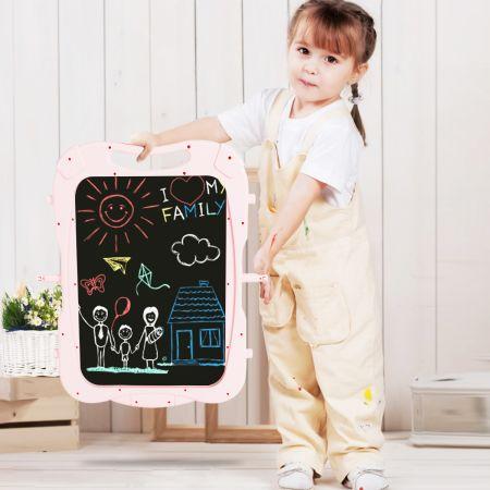 2 in 1 Kindertafel Staffelei doppelseitig Whiteboard & Kreidetafel Lila