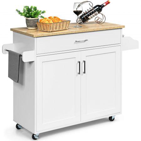 Costway Küchenwagen Rollbar Kücheninsel Küchenschrank Servierwagen