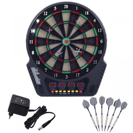 Elektronische Dartscheibe LCD Dartboard Dartspiel Dartpfeil Dart Board +6 Pfeile