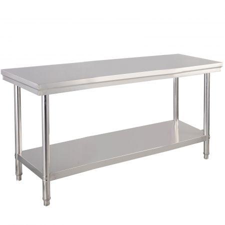 Edelstahl Küchentisch Arbeitstisch Gastro Tisch Edelstahltisch 122x61x90cm