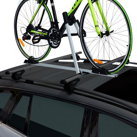 Costway Dachfahrradträger für 1 Fahrrad mit Diebstahlsicherung Rostschutz-Aluminiumlegierung Universalhalterung
