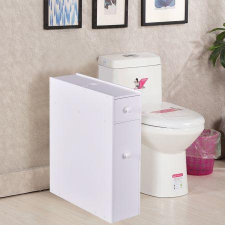 Weiß Holz Badschrank Seitenschrank Nischenschrank Weiß