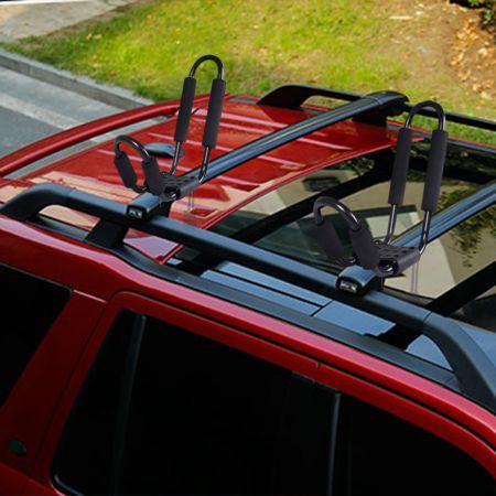COSTWAY 4 x Kajakträger Bootshalter Universal für Autodachträger inkl. 4 Allzweckgurte