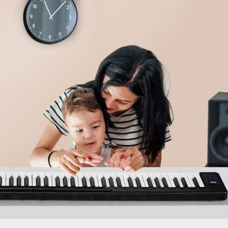 Costway 88 Tastatur digitale Keyboard Kinder elektrisches Klavier 2 x 44Tasten/128 Töne
