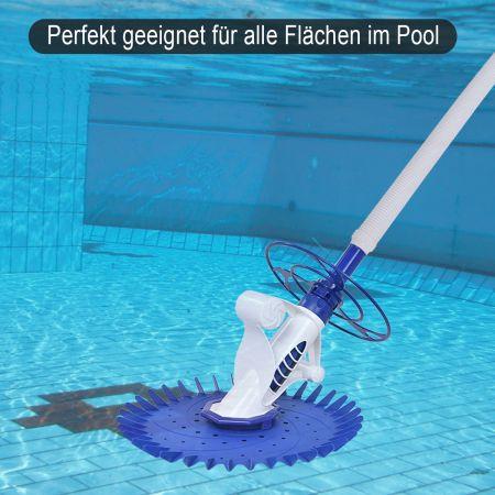 Costway Automatischer Poolreiniger Poolsauger Swimmingpool Schwimmbad Cleaner inkl. 10 Schläuche