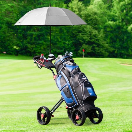 Costway Golf Cart 4 Räder klappbares Golf Cart multifunktionales und bequemes Golf Cart Golfwagen mit verstellbarem Griff