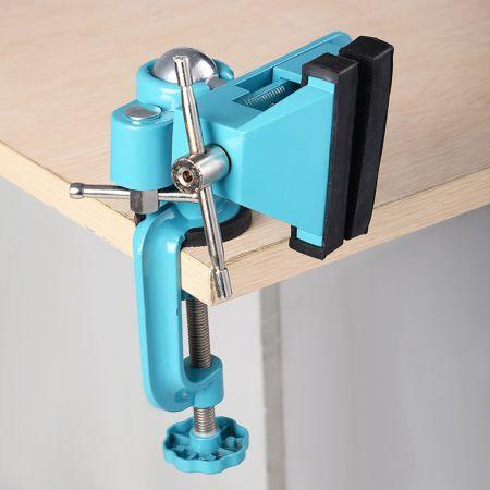 Tischschraubstock Mini Tisch Schraubstock Werkbank 360° drehbar schwenkbar
