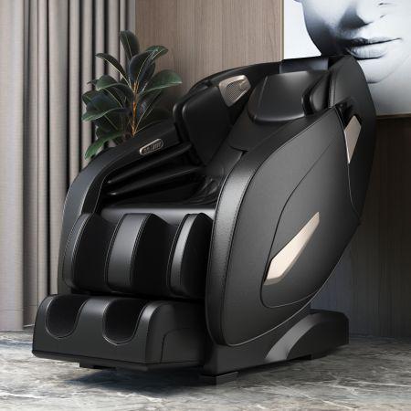 Costway Elektrischer Massagesessel verstellbarer Shiatsu-Sessel 143 x 77 x 111 cm Schwarz