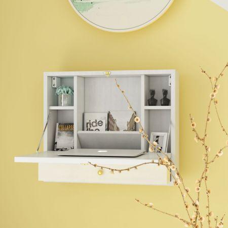 Costway Wandtisch Klapptisch Multifunktionaler Schreibtisch Laptop-Tisch Weiß