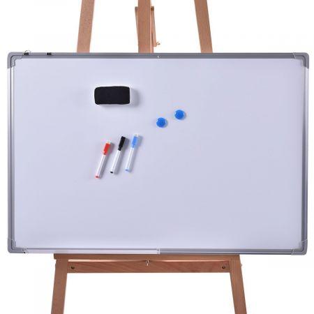 Whiteboard Magnettafel Schreibttafel Wandtafel Memoboard mit Alurahmen (120x90 cm)