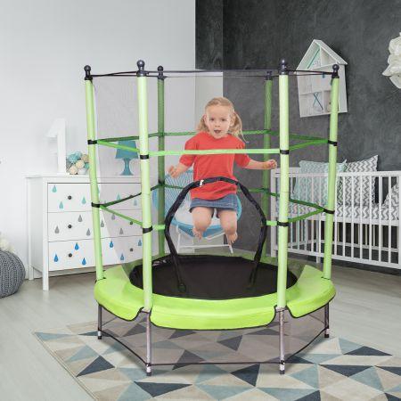 Trampolin Gartentrampolin Kindertrampolin Outdoor Trampolin mit Sicherheitsnetz Ø 140 cm