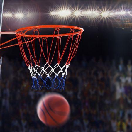 Costway Basketballkorb an der Wand befestigter Basketballkorb Profi Dunking Basketballkorb für drinnen und draußen Orange-Rot