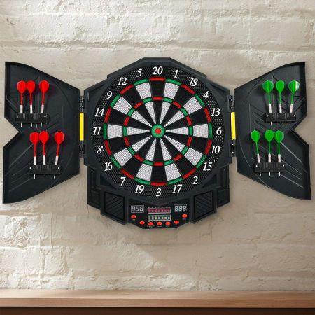 Elektronische Dartboard Dartscheibe Dartautomat LED Dartspiel Dartpfeil + 12 Pfeile
