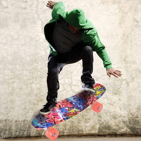 Skateboard Board Street Board Komplettboard Deck Funboard mit Leuchtrollen
