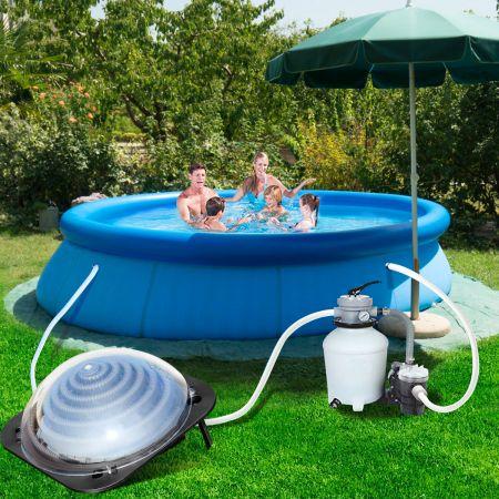 Costway Kuppel-Solarheizung für den Pool Solar-Wasserheizung Poolheizung Solarheizung Wasserheizung