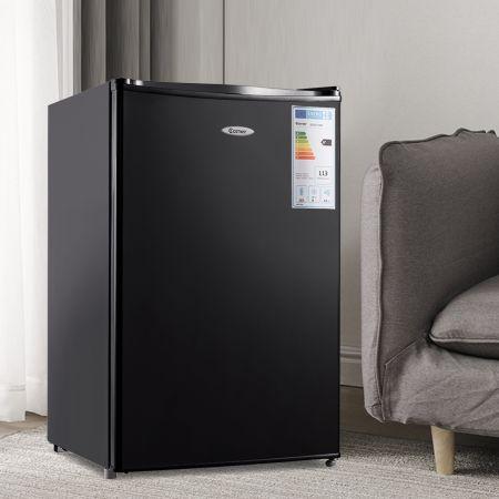 Costway Kühlschrank mit Gefrierfach 123 L Gefrierkombination Schwarz 52 x 52 x 84 cm A+
