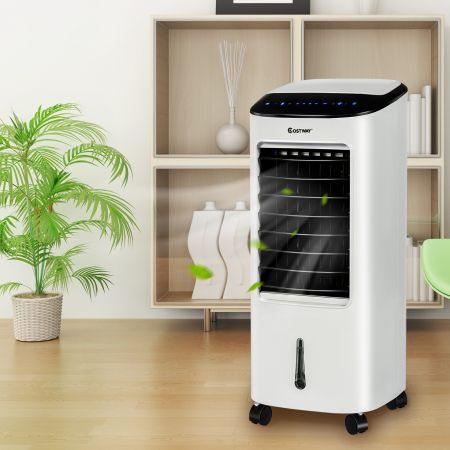Costway 4 in 1 Mobile Klimaanlage Luftkühler Ventilator Luftreiniger Luftbefeuchter Klimagerät Tragbarer Verdunstungskühler Weiß