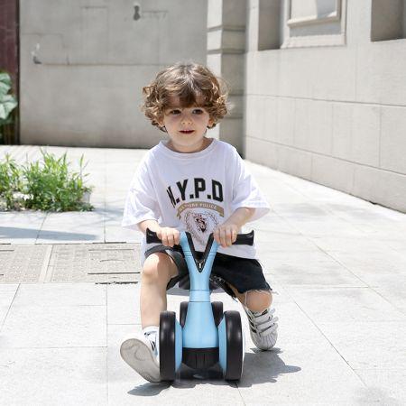 COSTWAY Laufrad Balance Fahrrad Balance Bike Kinderlaufrad Lauflernrad für Kinder Fahrrad Lernlaufrad ohne Pedal für Kinder 59x29x40cm Blau