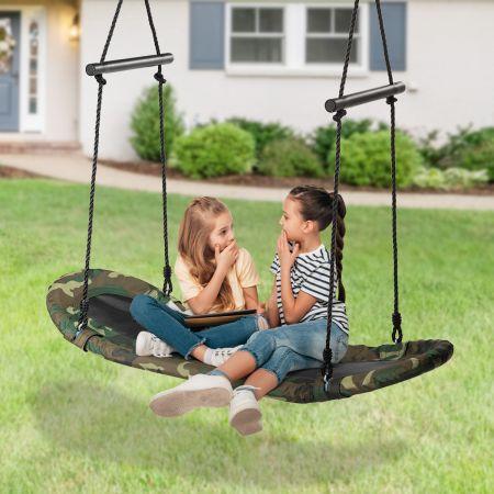 Costway Nestschaukel Kinder Baumschaukel mit 100-160cm verstellbaren Seil Hängeschaukel 150kg Tragkraft 123x45cm