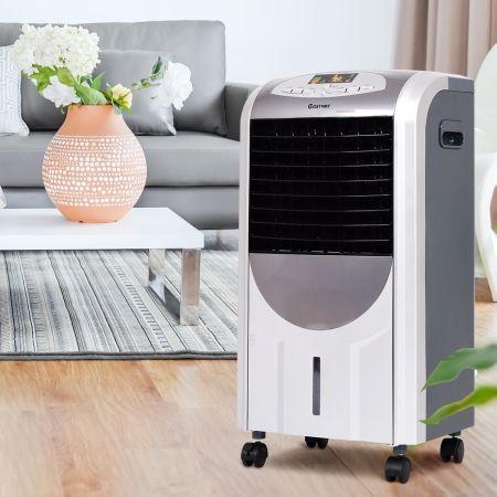 Costway Klimaanlage mobil klimagerät Luftkühler Heizlüfter 2000W Heizen Grau