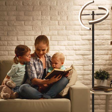Costway LED Stehlampe dimmbar Deckenfluter Standleuchte Stehleuchte Metalllampe