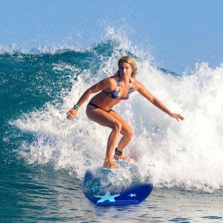 Costway Sup Board Kinder Bodyboard Surfbrett Surfboard Dunkelblau 104 x 52 x 6 cm