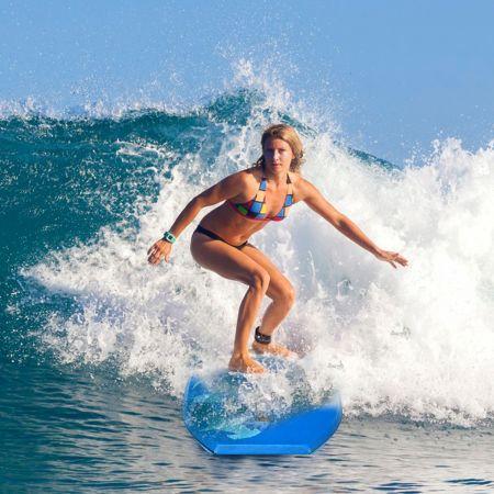 Costway Sup Board Kinder Bodyboard Surfbrett Surfboard Blau 104 x 52 x 6 cm