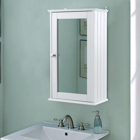 34 x 15 x 53 cm 2 Fächer Badschrank Spiegelschrank Hängeschrank
