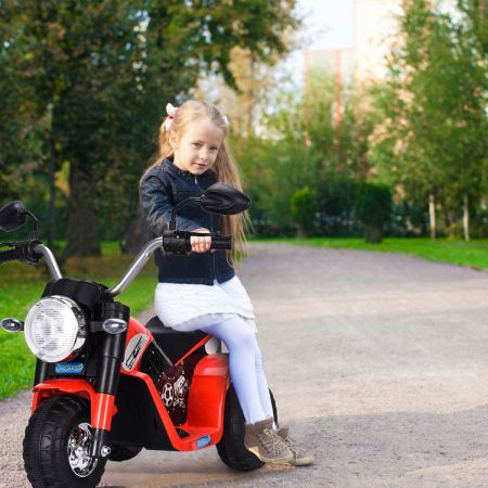 Costway Elektro Motorrad Kindermotorrad Elektromotorrad mit Stützrädern 57 x 72 x 56 cm Rot