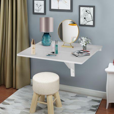 Wandklapptisch Faltmodi Schreibtisch Küchentisch Weiß Holz 80 x 60 x 43 cm