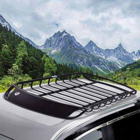 Dachkorb Universal Aerodynamisches Design Auto Dachgepäckträger 120 x 98 x 17 cm Schwarz