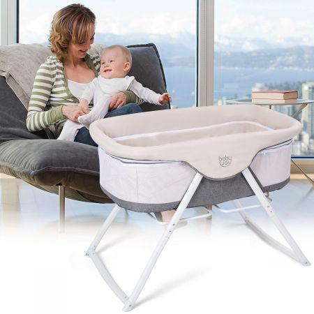 Stubenwagen Beistellbett Baby Babywiege Reisebett mit Transporttasche und Matratze klappbar