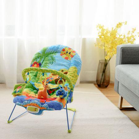 Babywippe Babywiege Schaukelwippe Babyschaukel Babysitz mit Vibrationsfunktion Musik