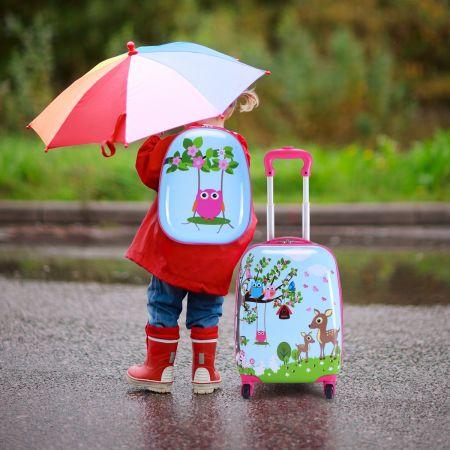 2 tlg Kofferset Kindergepäck 16'' Koffer + 12'' Rucksack
