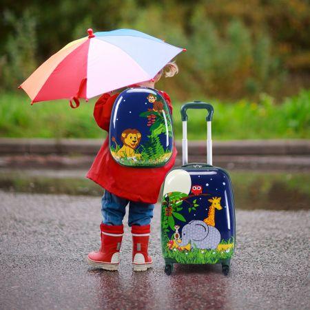 2 tlg Kofferset Reisegepäck Kindergepäck 16'' Koffer + 12'' Rucksack