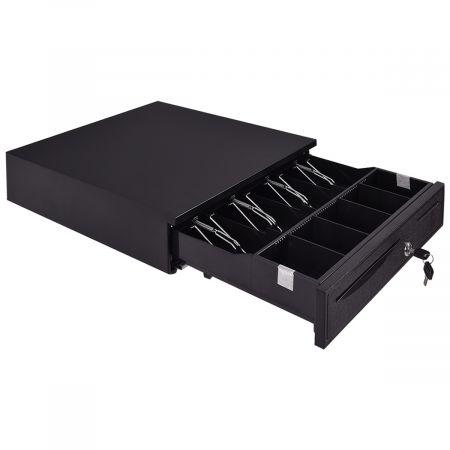 Kassenlade Kassenschublade Geldlade Geldschublade Metalllade Geldbox 5 Münzfächer 4 Scheinfächer 40,5x42X9cm