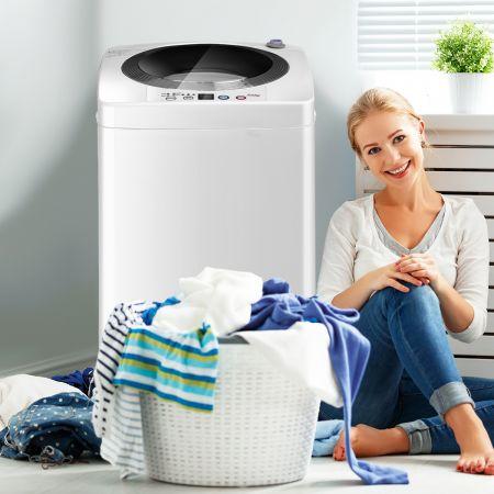 Costway Waschmaschine Waschvollautomat mit Pump und Display Weiß 43 x 43 x 75 cm