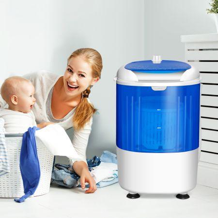 Costway Mini Waschmaschine Reisewaschmaschine Waschautomat mit Trockenschleuder Blau