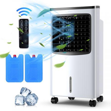Costway 3in1 Mobile Klimaanlage 75W Luftkühler Ventilator Luftreiniger Luftbefeuchter Weiß